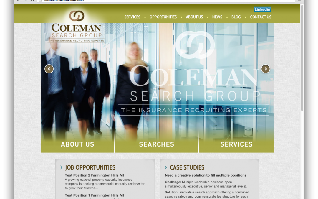Coleman Search Group Launches New Website